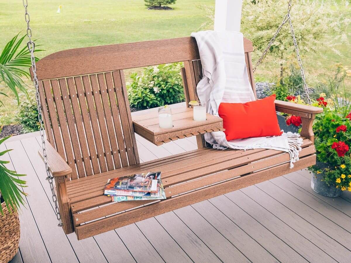 Stockton Porch Swing with Console