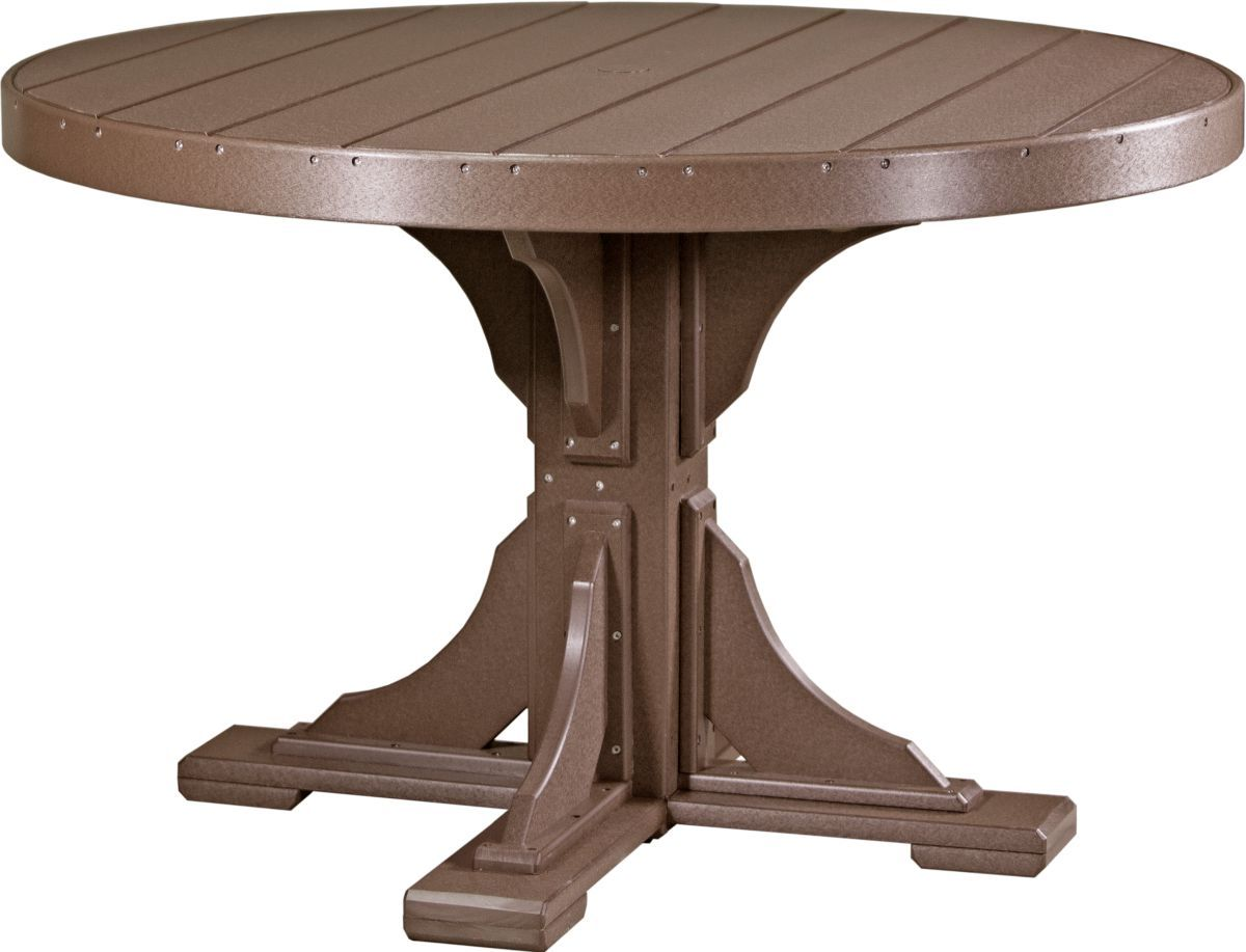 Chestnut Brown Stockton Outdoor Single Pedestal Table