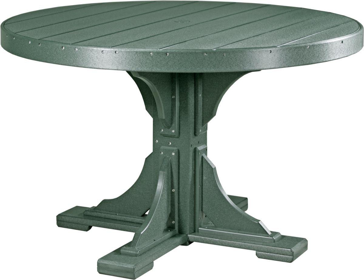 Green Stockton Outdoor Single Pedestal Table