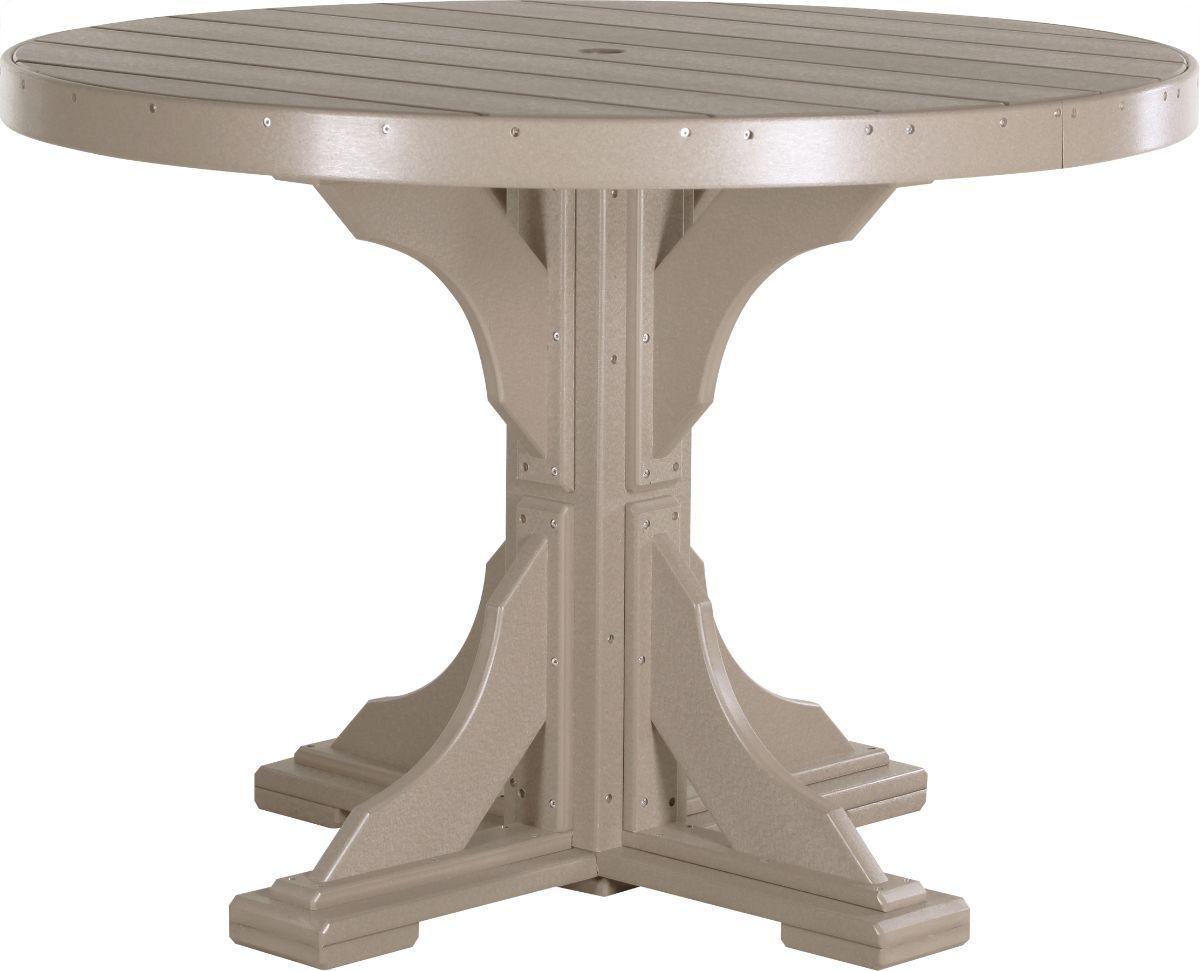 Weatherwood Stockton Outdoor Single Pedestal Table