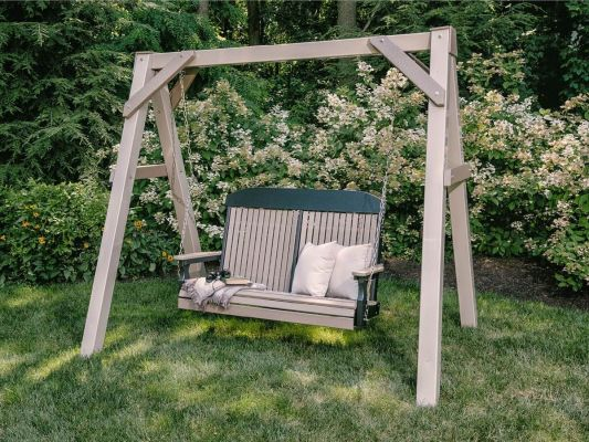Stockton Porch Swing and Clay A-Frame