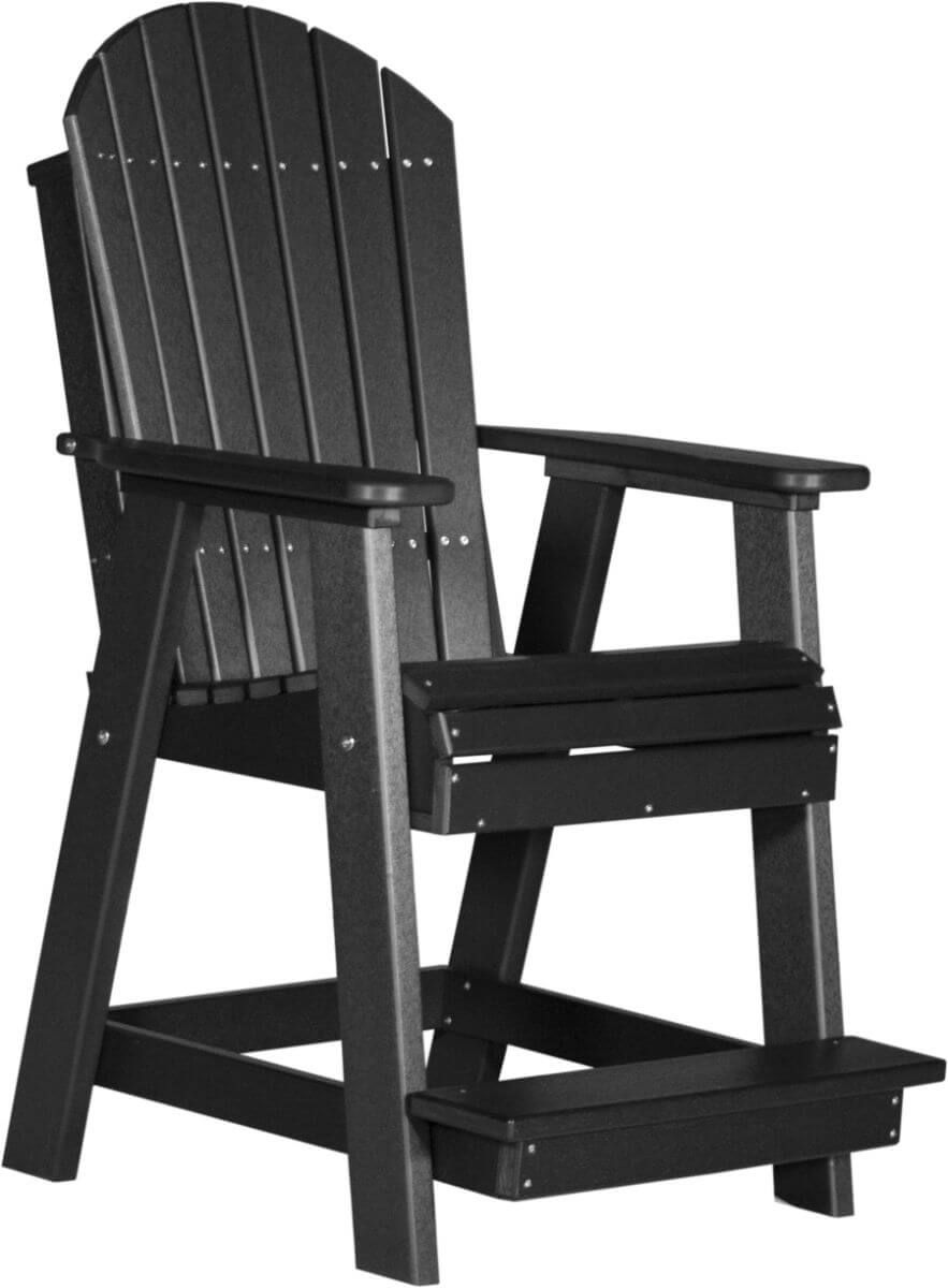 Black Tahiti Adirondack Balcony Chair