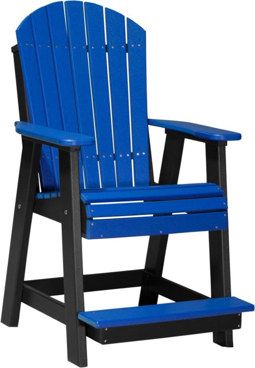 Blue and Black Tahiti Adirondack Balcony Chair