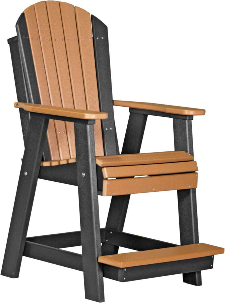 Cedar and Black Tahiti Adirondack Balcony Chair