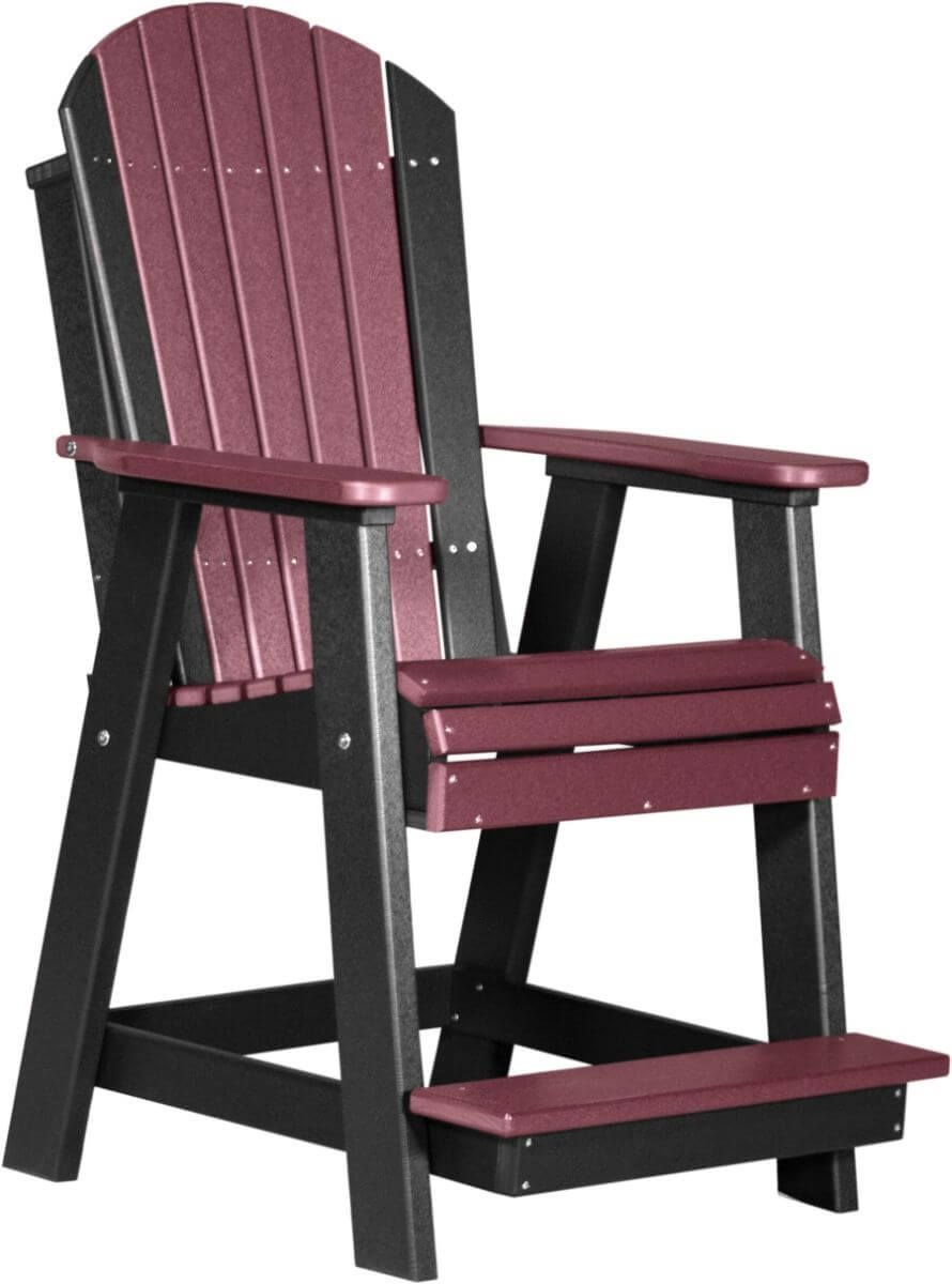 Cherrywood and Black Tahiti Adirondack Balcony Chair