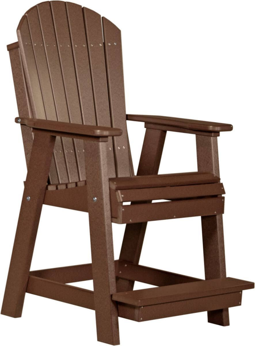 Chestnut Brown Tahiti Adirondack Balcony Chair