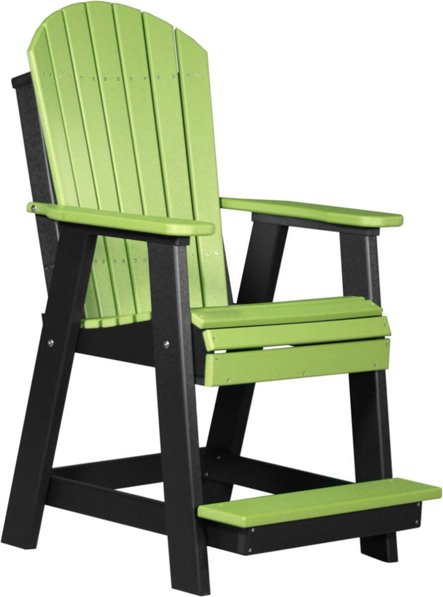 Lime Green and Black Tahiti Adirondack Balcony Chair