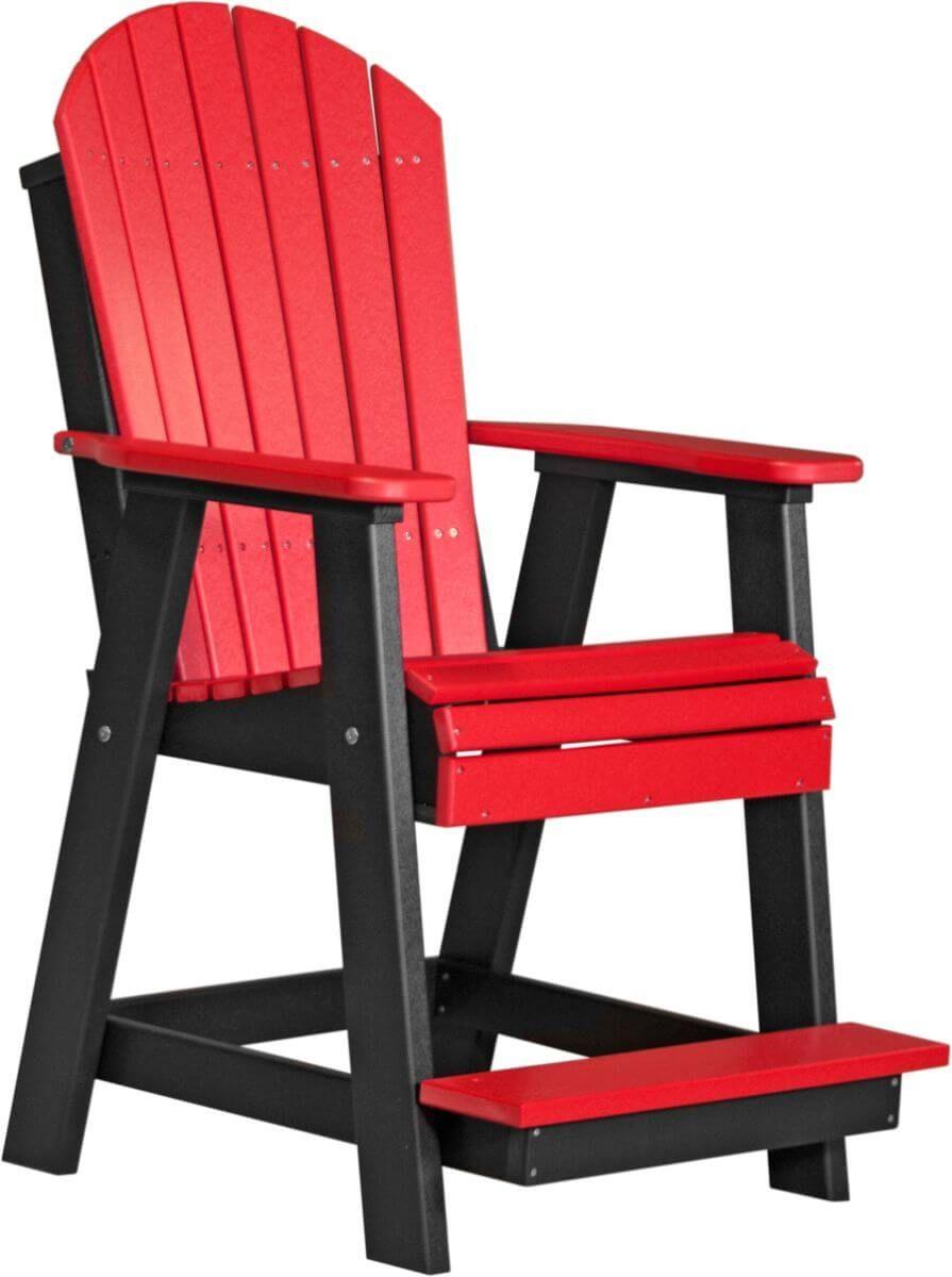 Red and Black Tahiti Adirondack Balcony Chair
