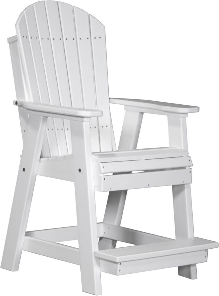 White Tahiti Adirondack Balcony Chair