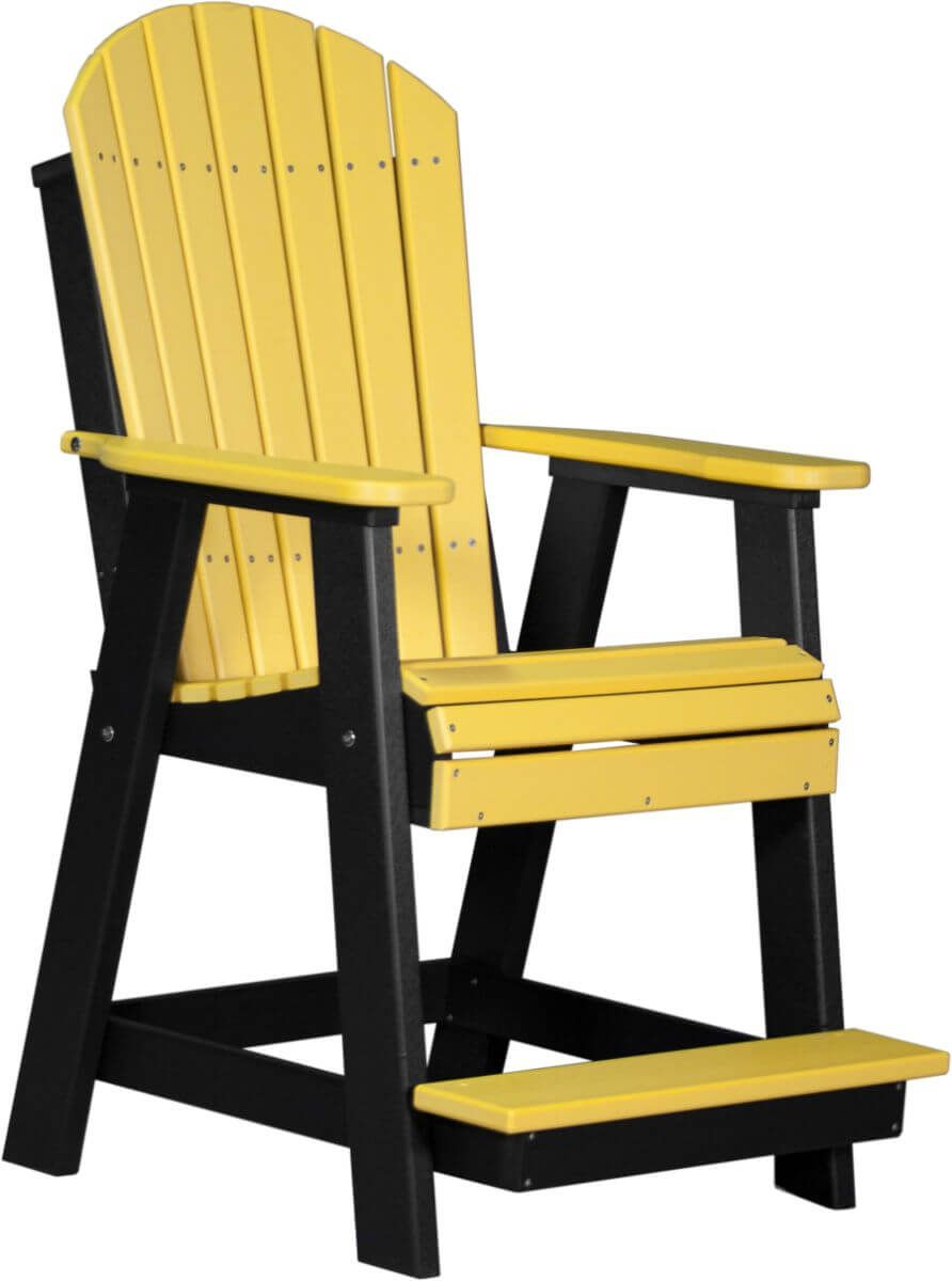 Yellow and Black Tahiti Adirondack Balcony Chair