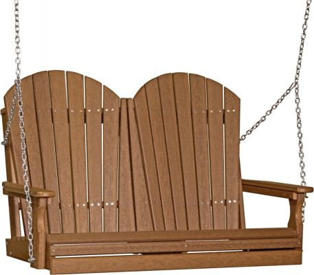 Antique Mahogany Tahiti Adirondack Porch Swing