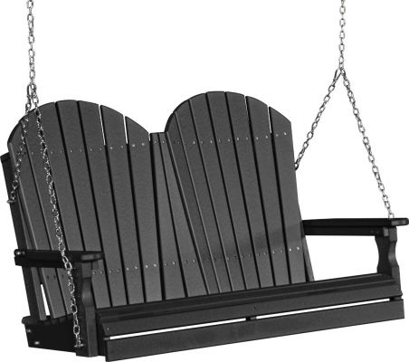 Black Tahiti Adirondack Porch Swing