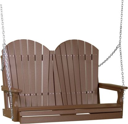 Chestnut Brown Tahiti Adirondack Porch Swing