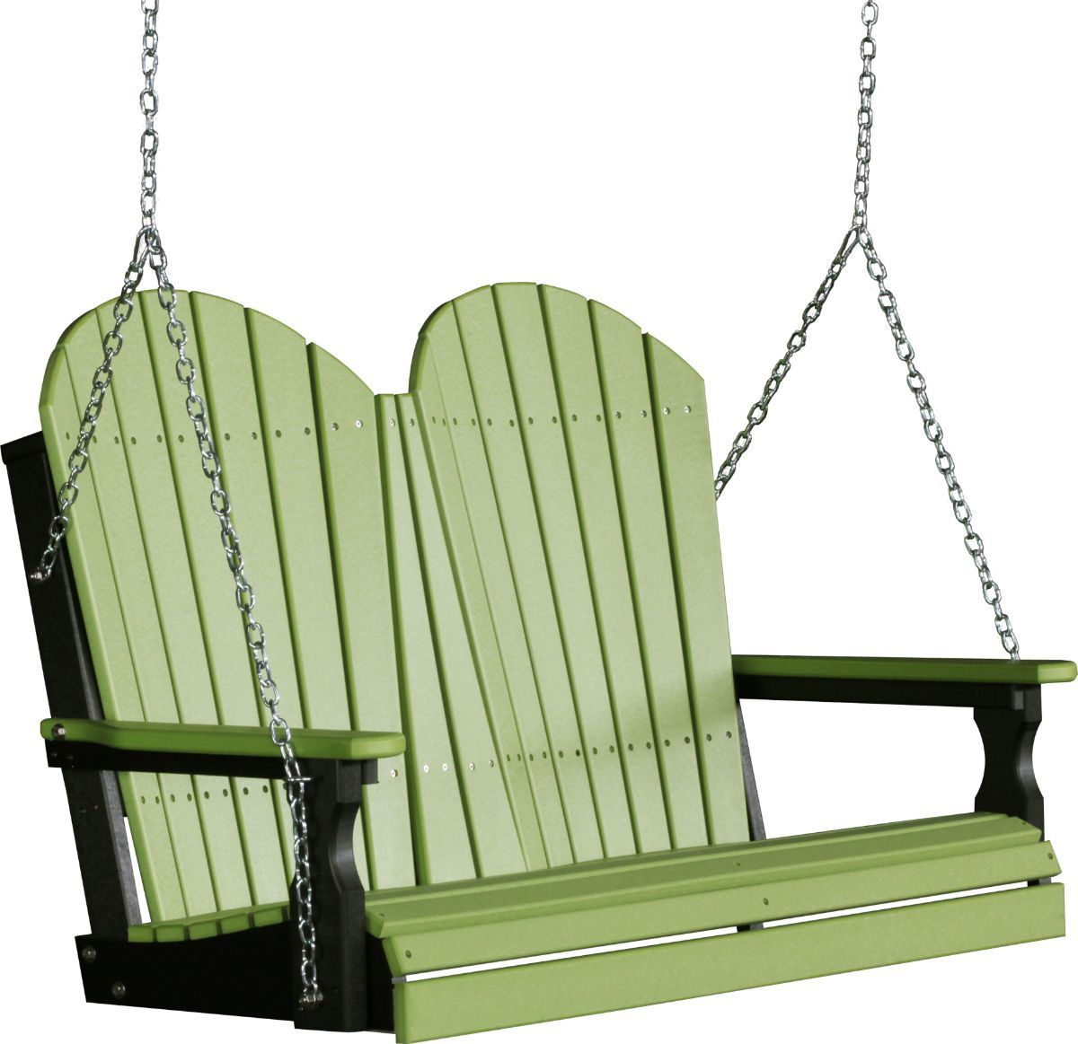 Lime Green and Black Tahiti Adirondack Porch Swing