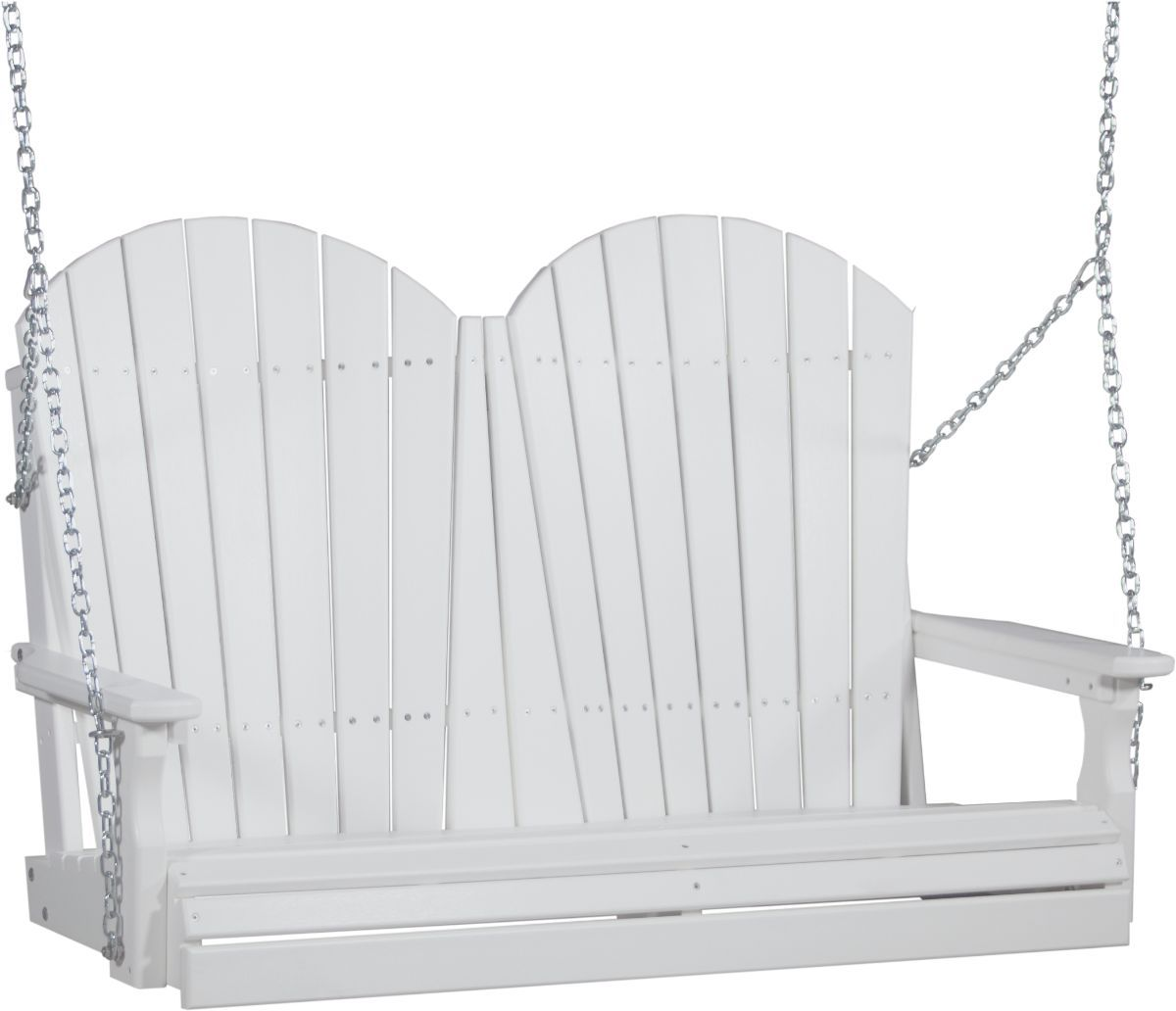 White Tahiti Adirondack Porch Swing