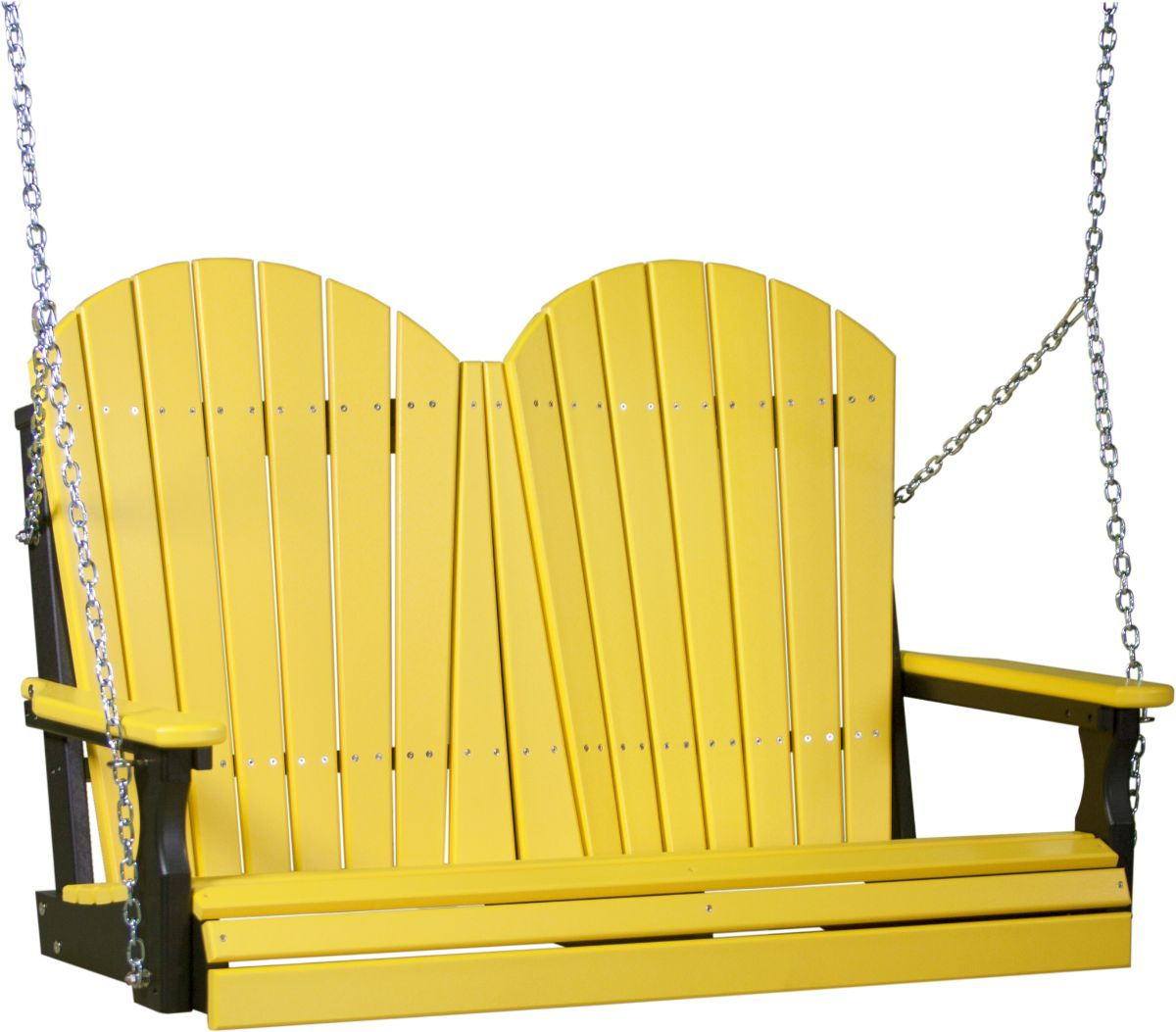 Yellow and Black Tahiti Adirondack Porch Swing