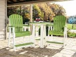 Lime Green and White Tahiti Balcony Table and Chairs