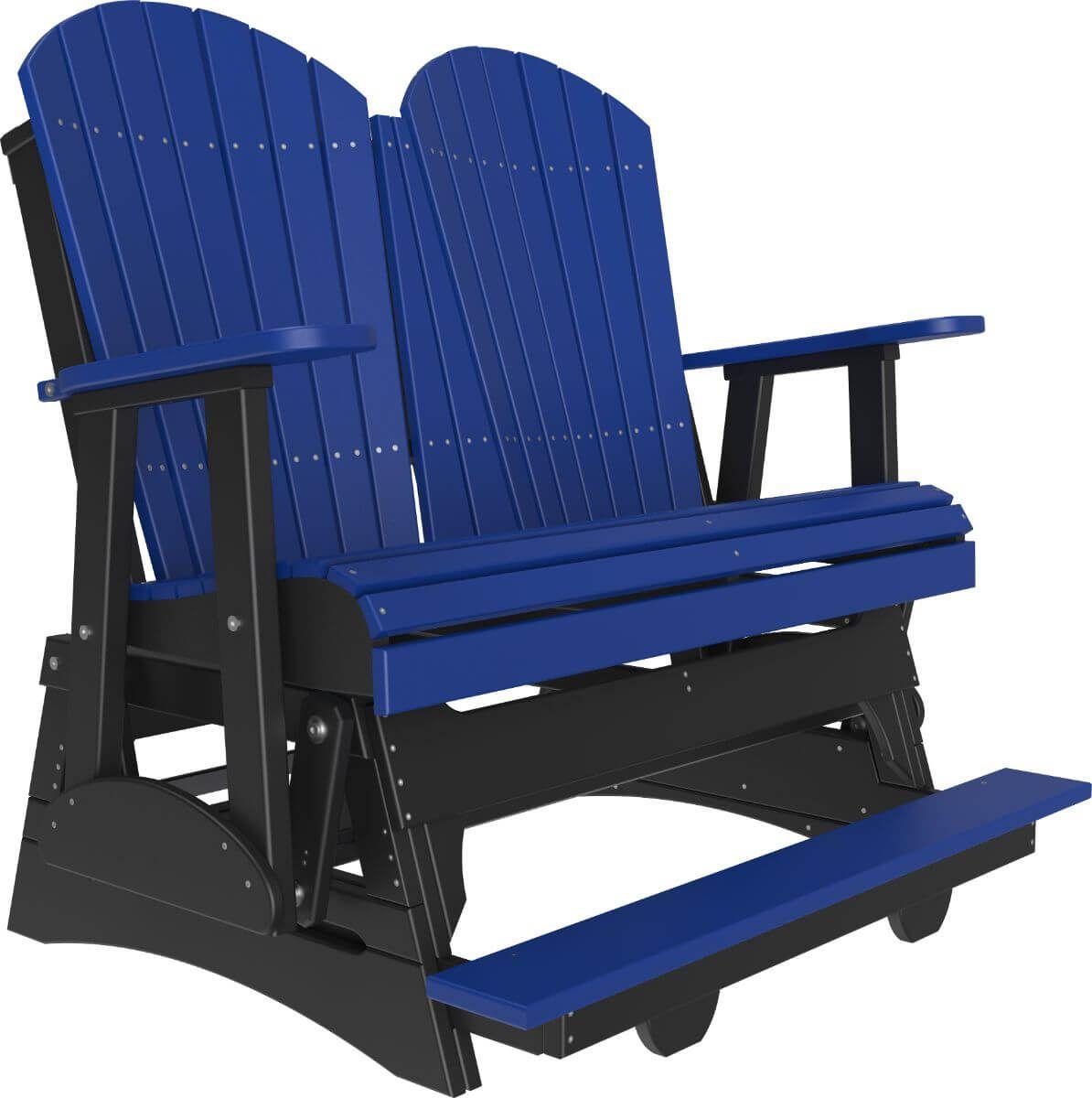 Blue and Black Tahiti Loveseat Balcony Glider