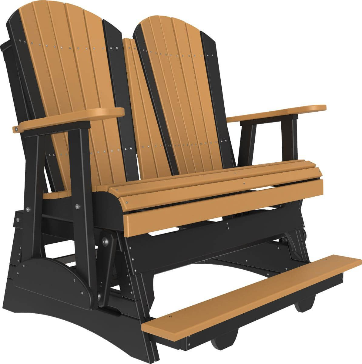 Cedar and Black Tahiti Loveseat Balcony Glider