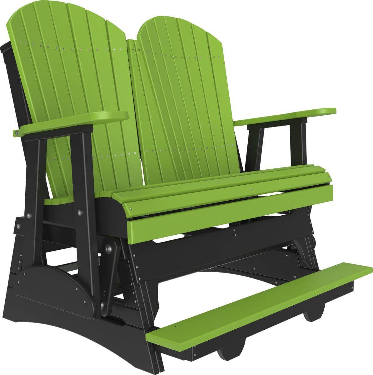 Lime Green and Black Tahiti Loveseat Balcony Glider