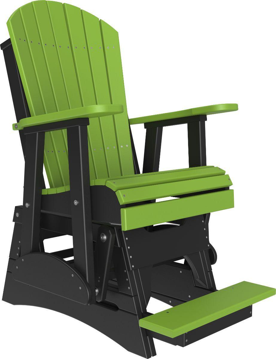 Lime Green and Black Tahiti Balcony Glider