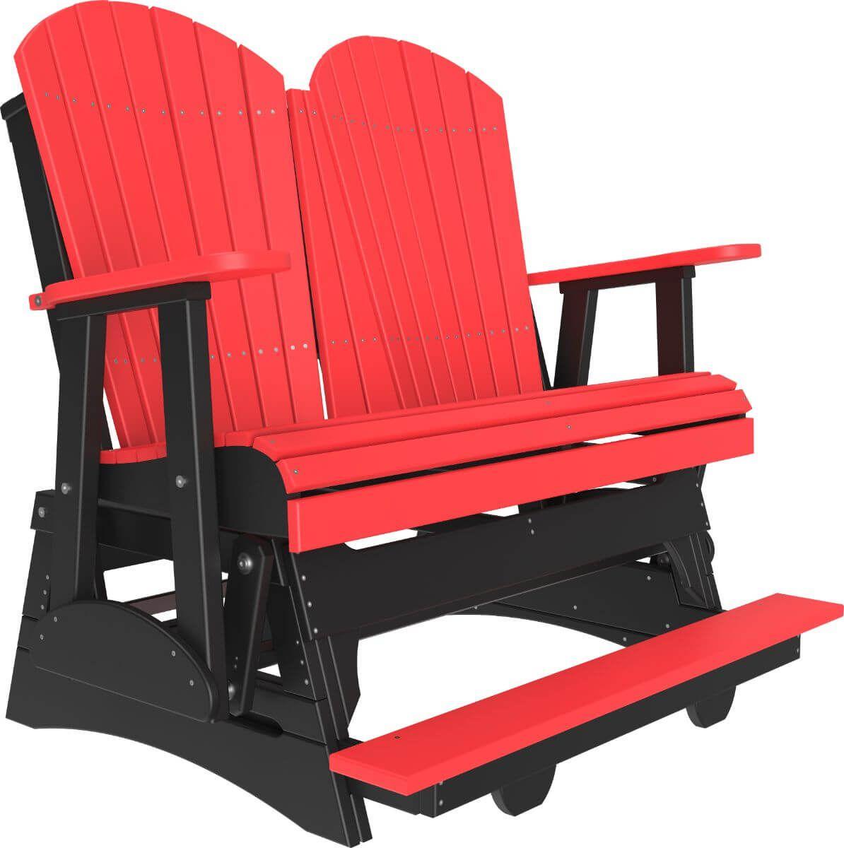 Red and Black Tahiti Loveseat Balcony Glider