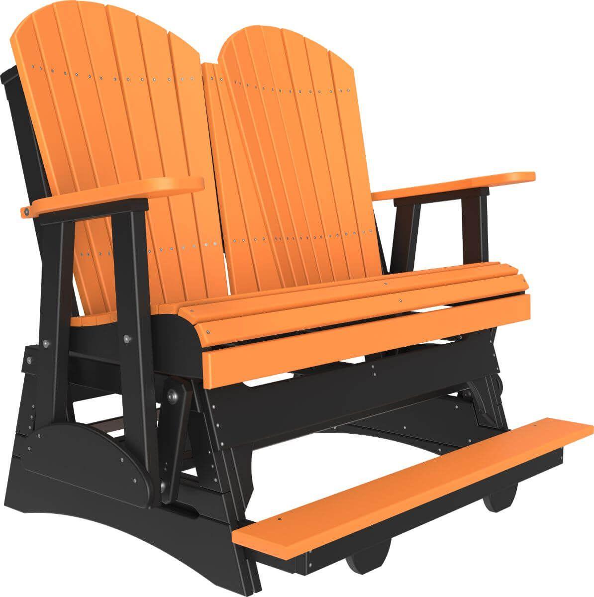 Tangerine and Black Tahiti Loveseat Balcony Glider