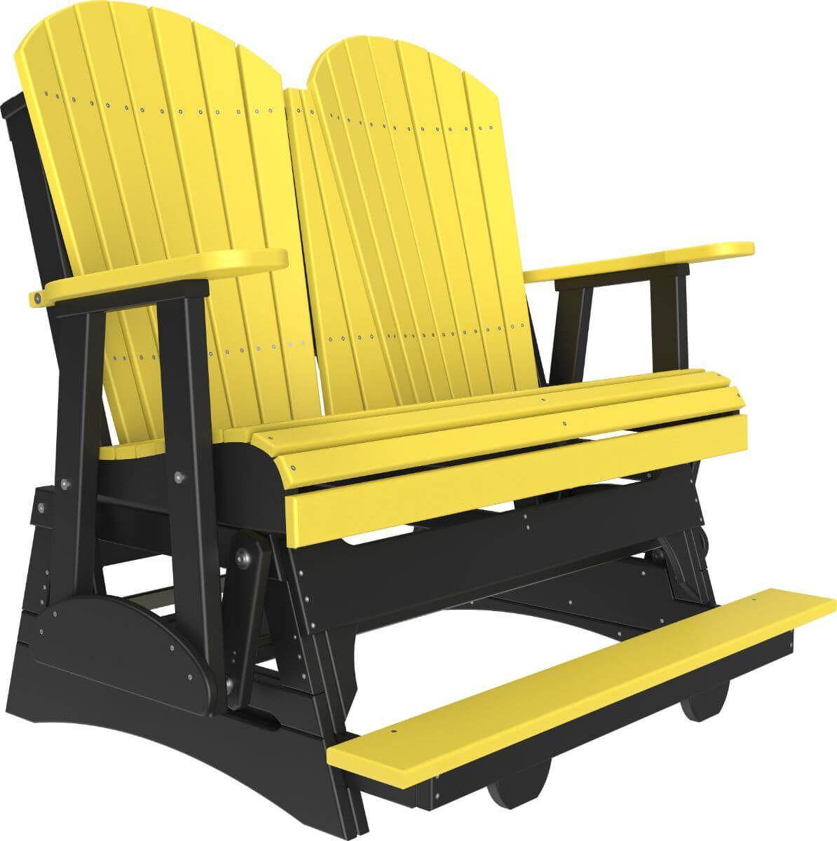 Yellow and Black Tahiti Loveseat Balcony Glider
