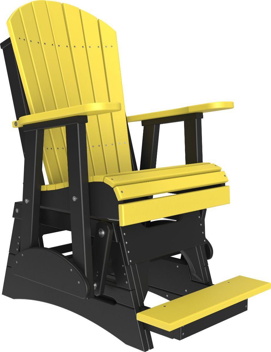 Yellow and Black Tahiti Balcony Glider