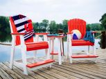 Red and White Tahiti Balcony Table and Chairs