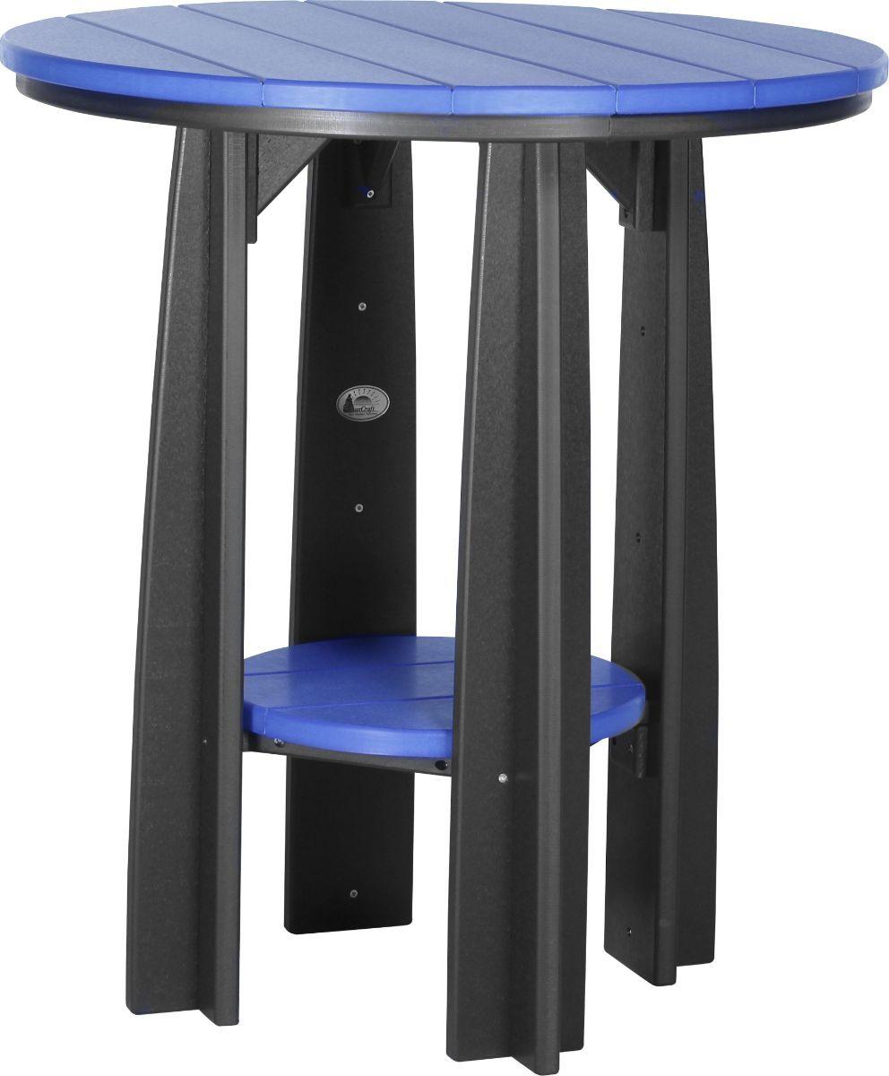 Blue and Black Tahiti Balcony Table
