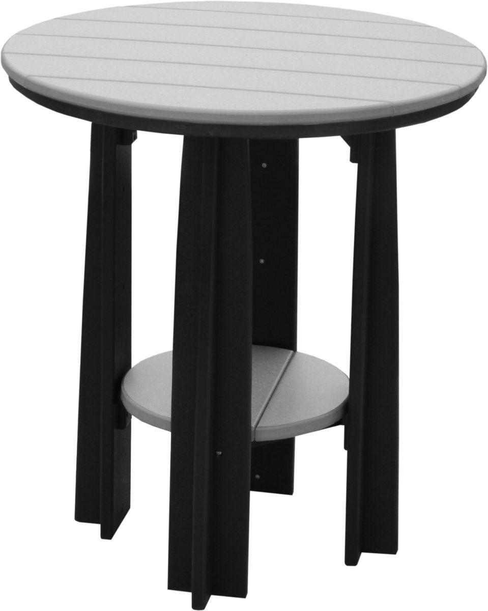 Dove Gray and Black Tahiti Balcony Table