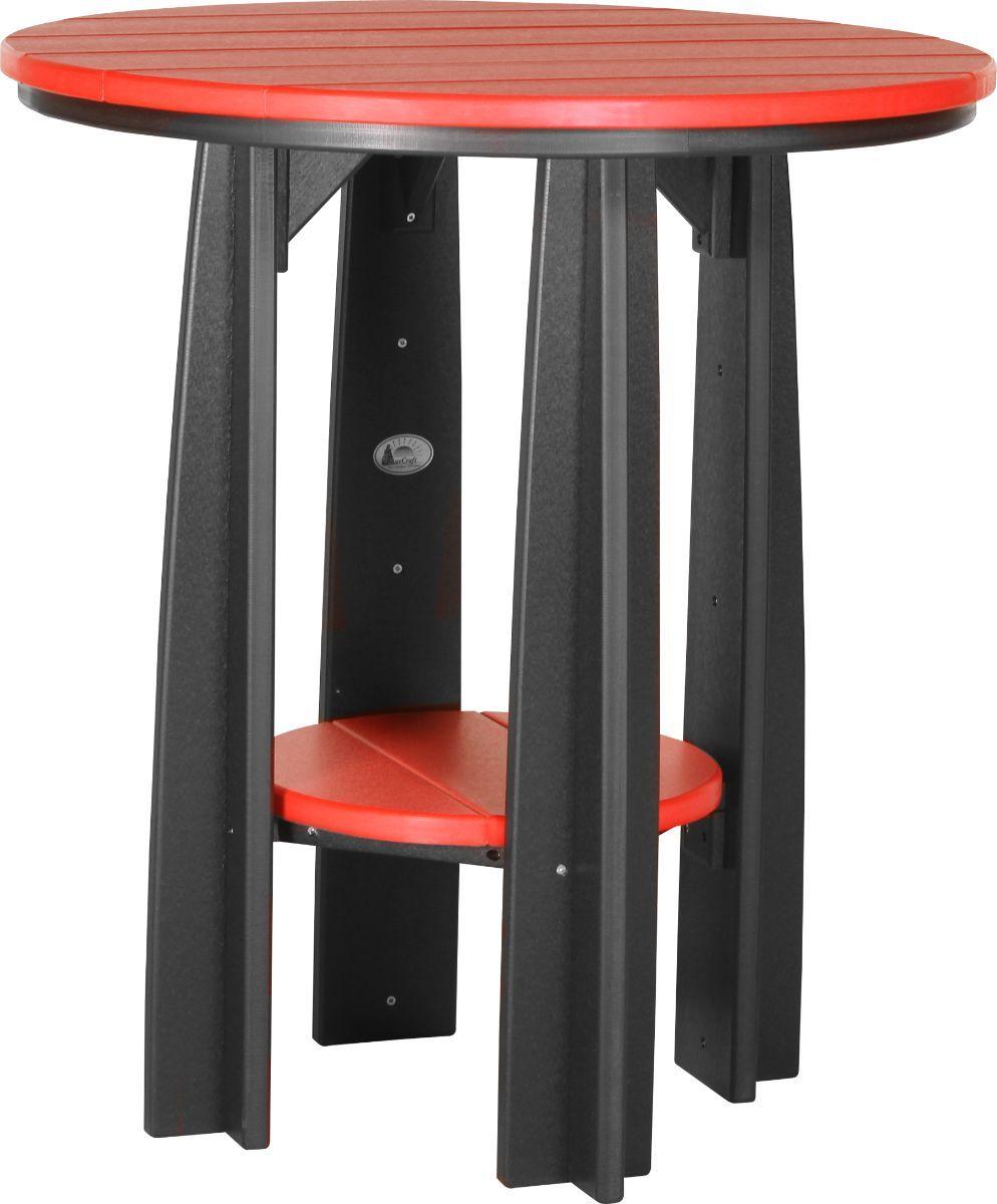 Red and Black Tahiti Balcony Table