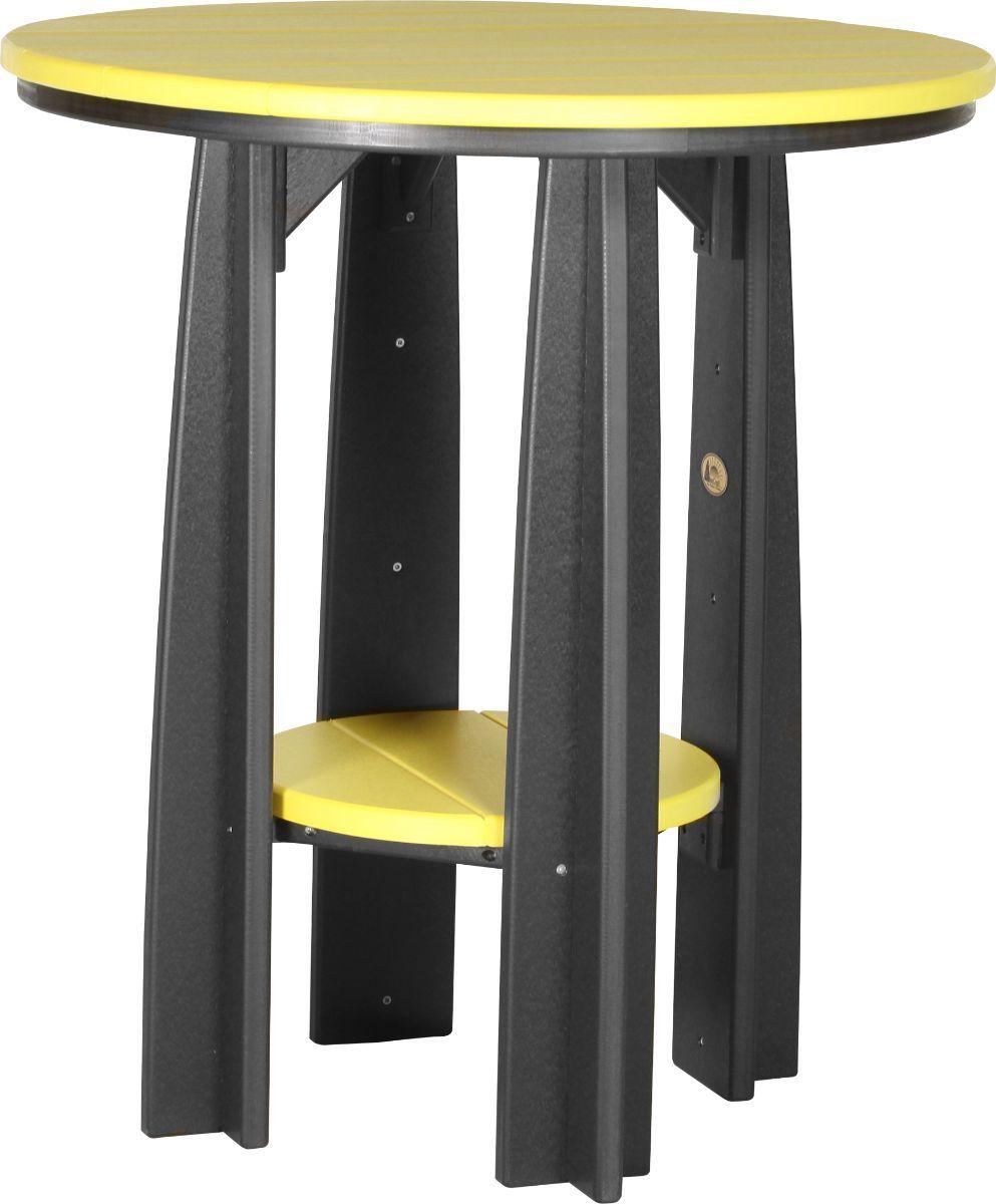 Yellow and Black Tahiti Balcony Table