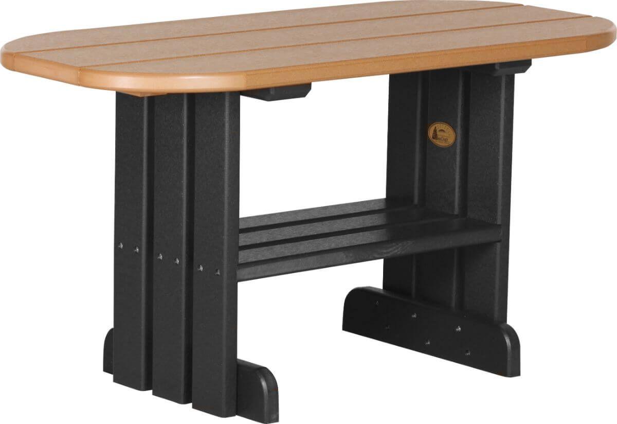 Cedar and Black Tahiti Outdoor Coffee Table
