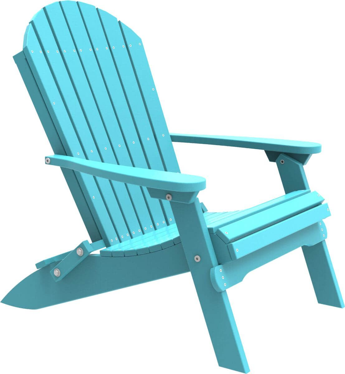 Aruba Blue Tahiti Folding Adirondack Chair