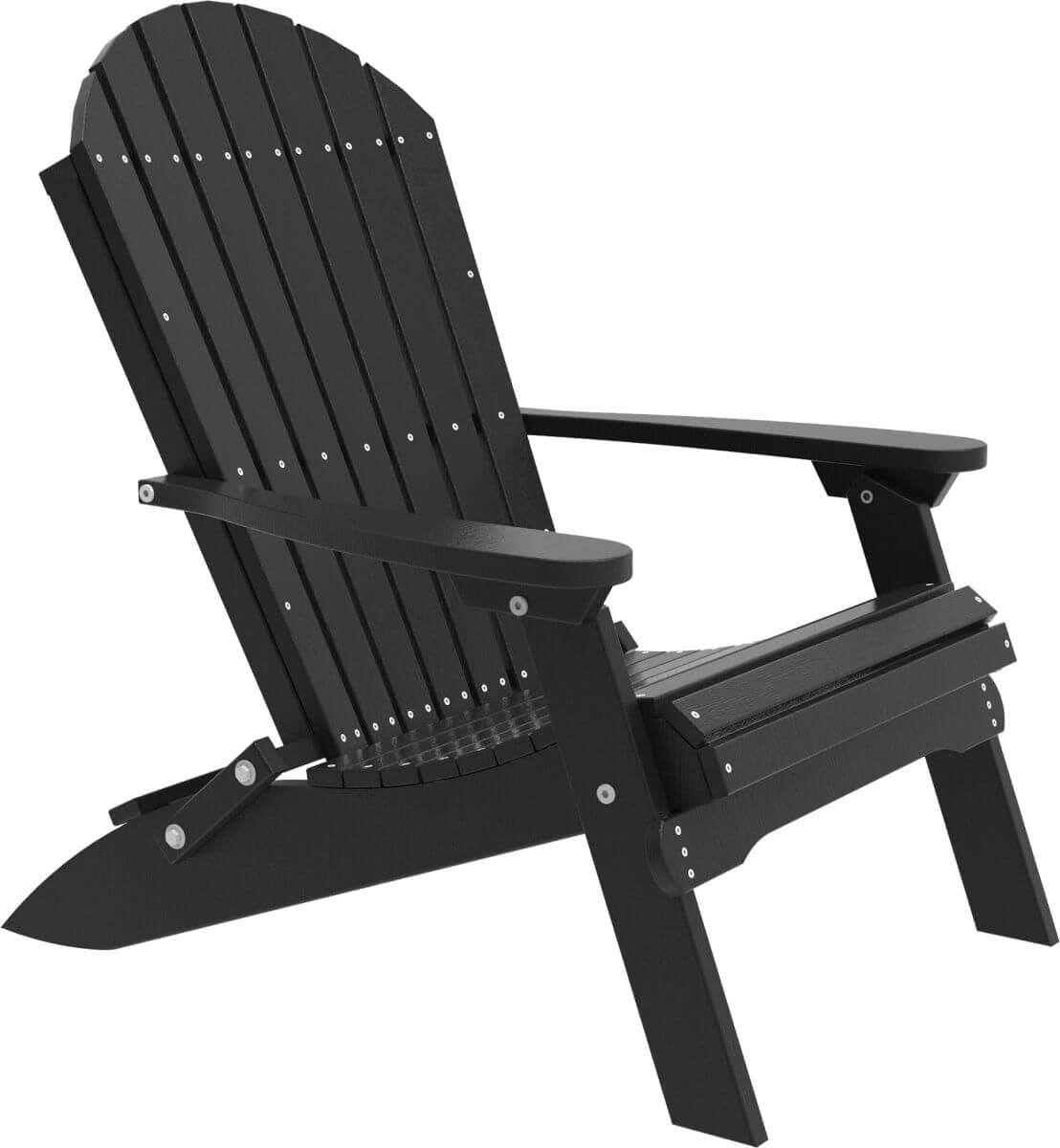 Black Tahiti Folding Adirondack Chair
