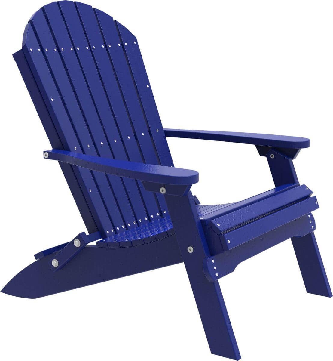 Blue Tahiti Folding Adirondack Chair