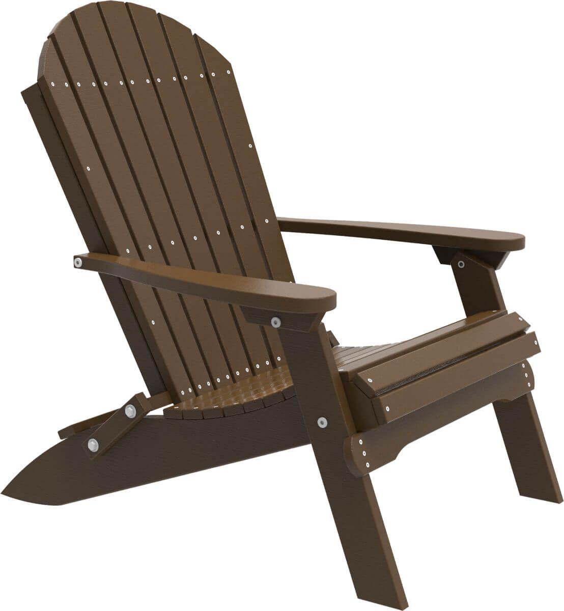 Chestnut Brown Tahiti Folding Adirondack Chair