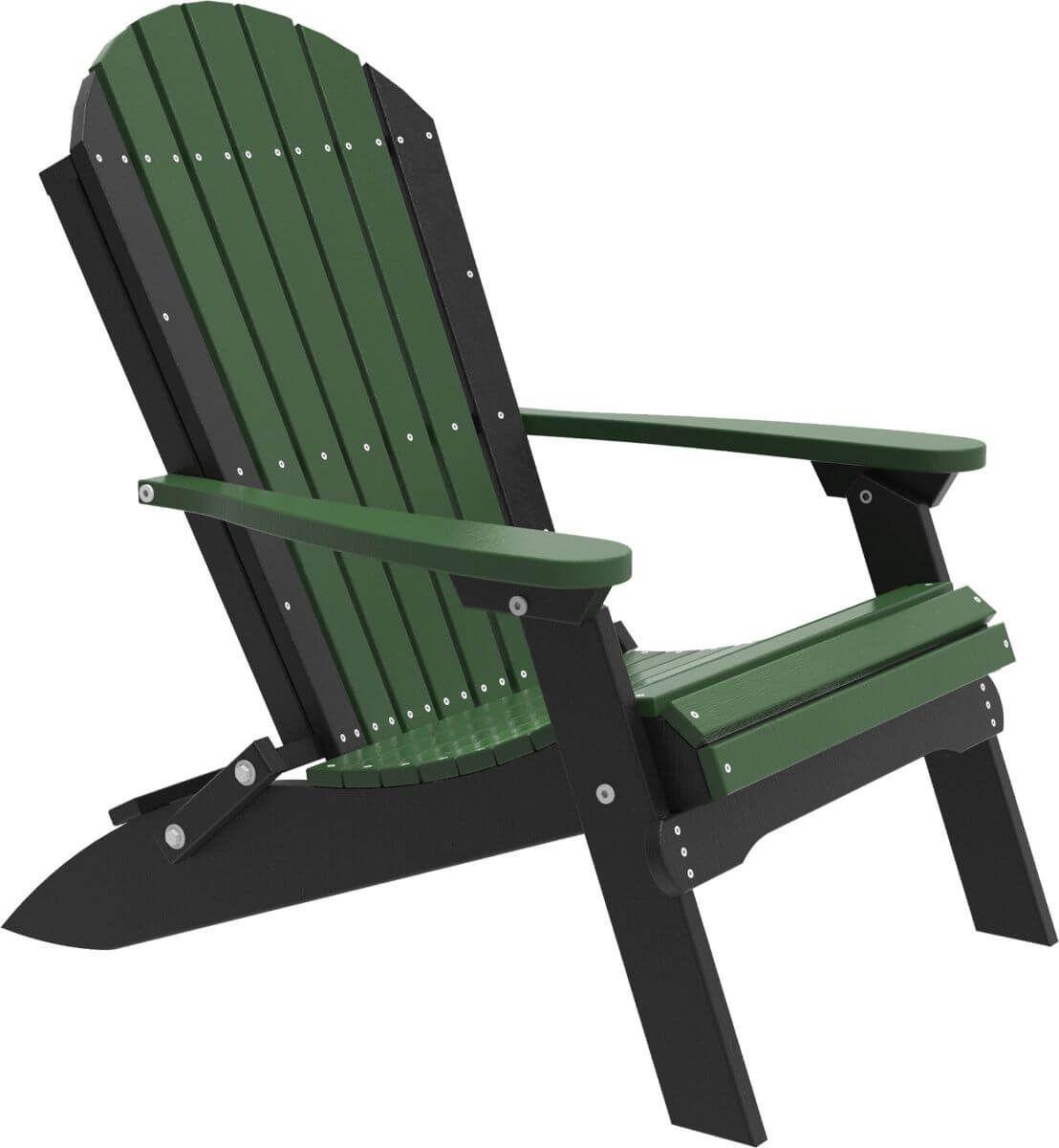 Green and Black Tahiti Folding Adirondack Chair