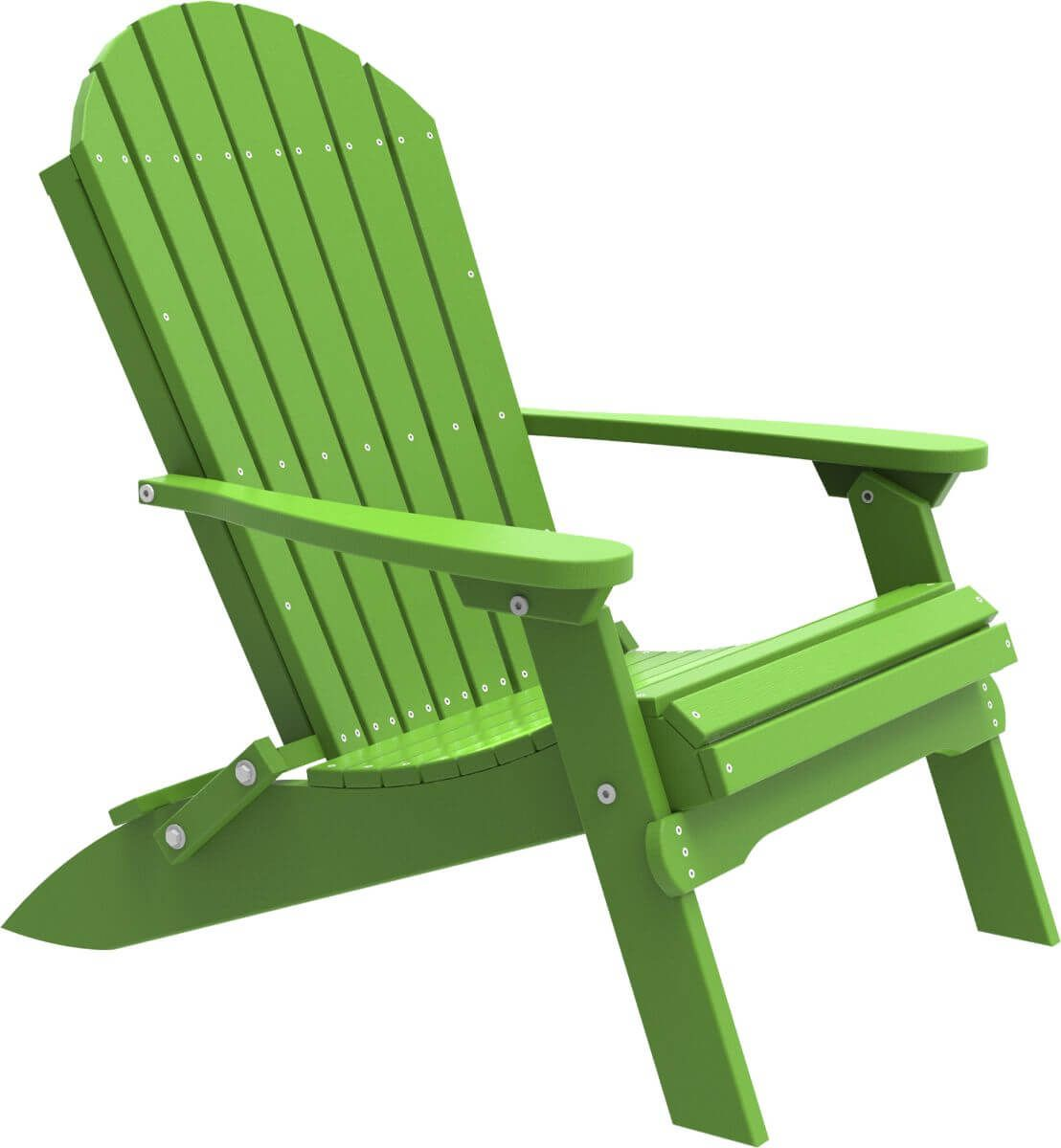 Lime Green Tahiti Folding Adirondack Chair