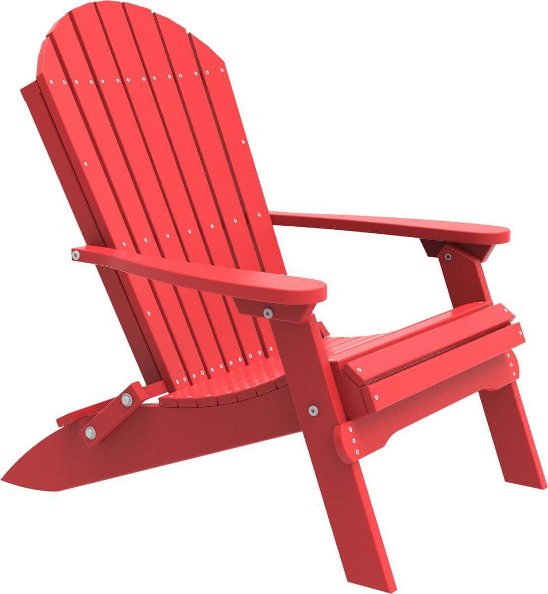 Red Tahiti Folding Adirondack Chair