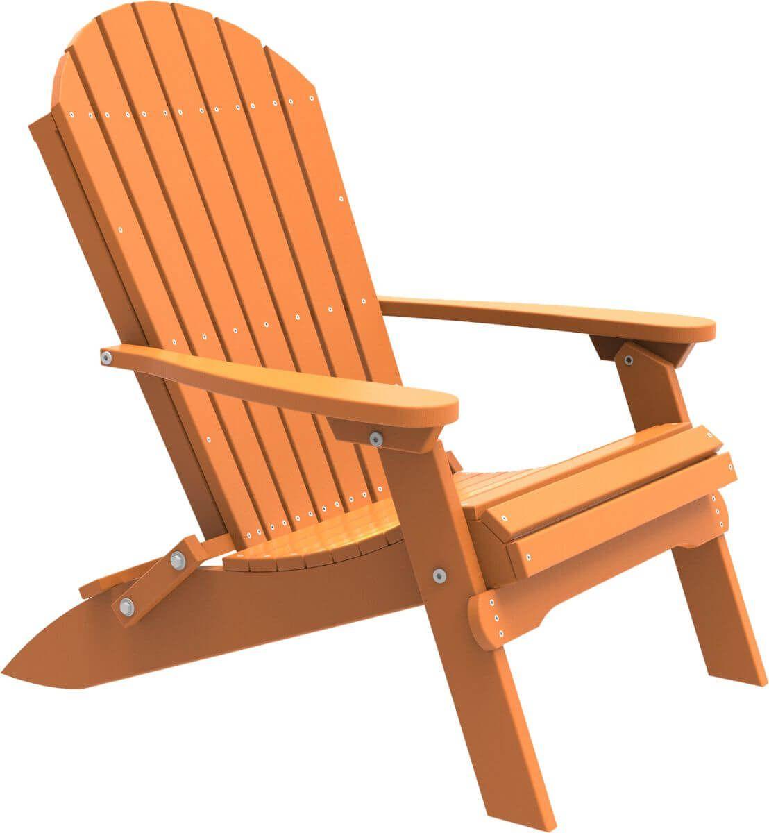 Tangerine Tahiti Folding Adirondack Chair