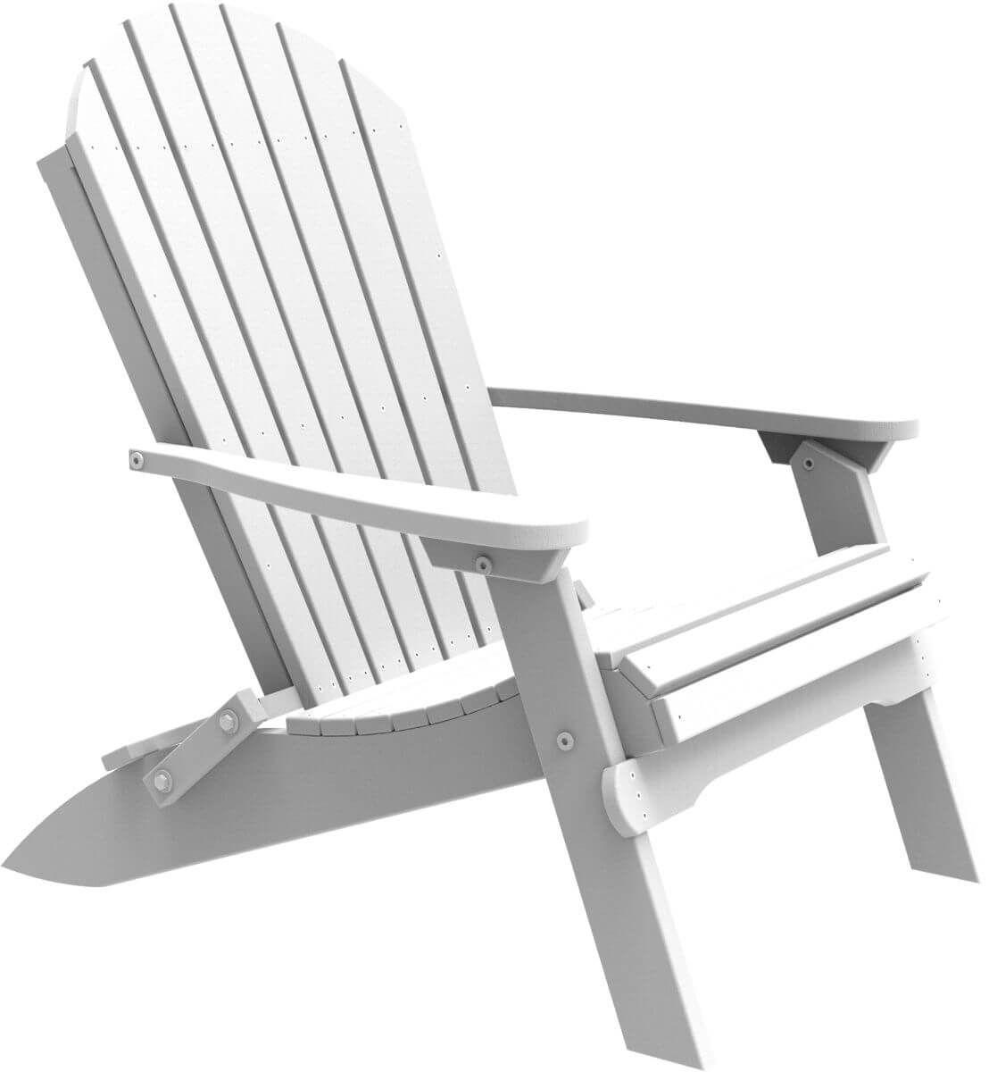 White Tahiti Folding Adirondack Chair