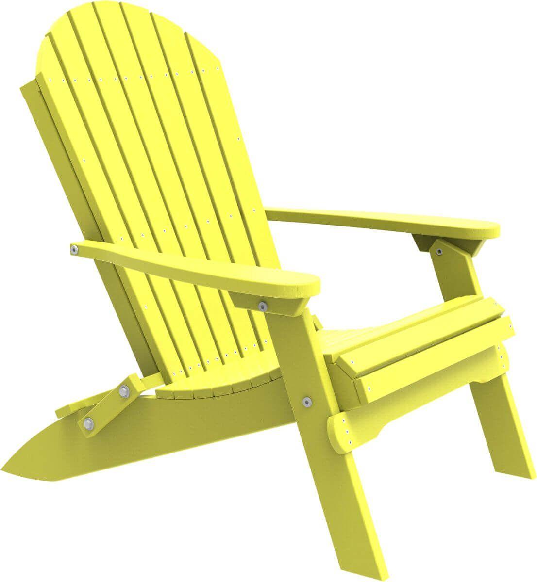 Yellow Tahiti Folding Adirondack Chair