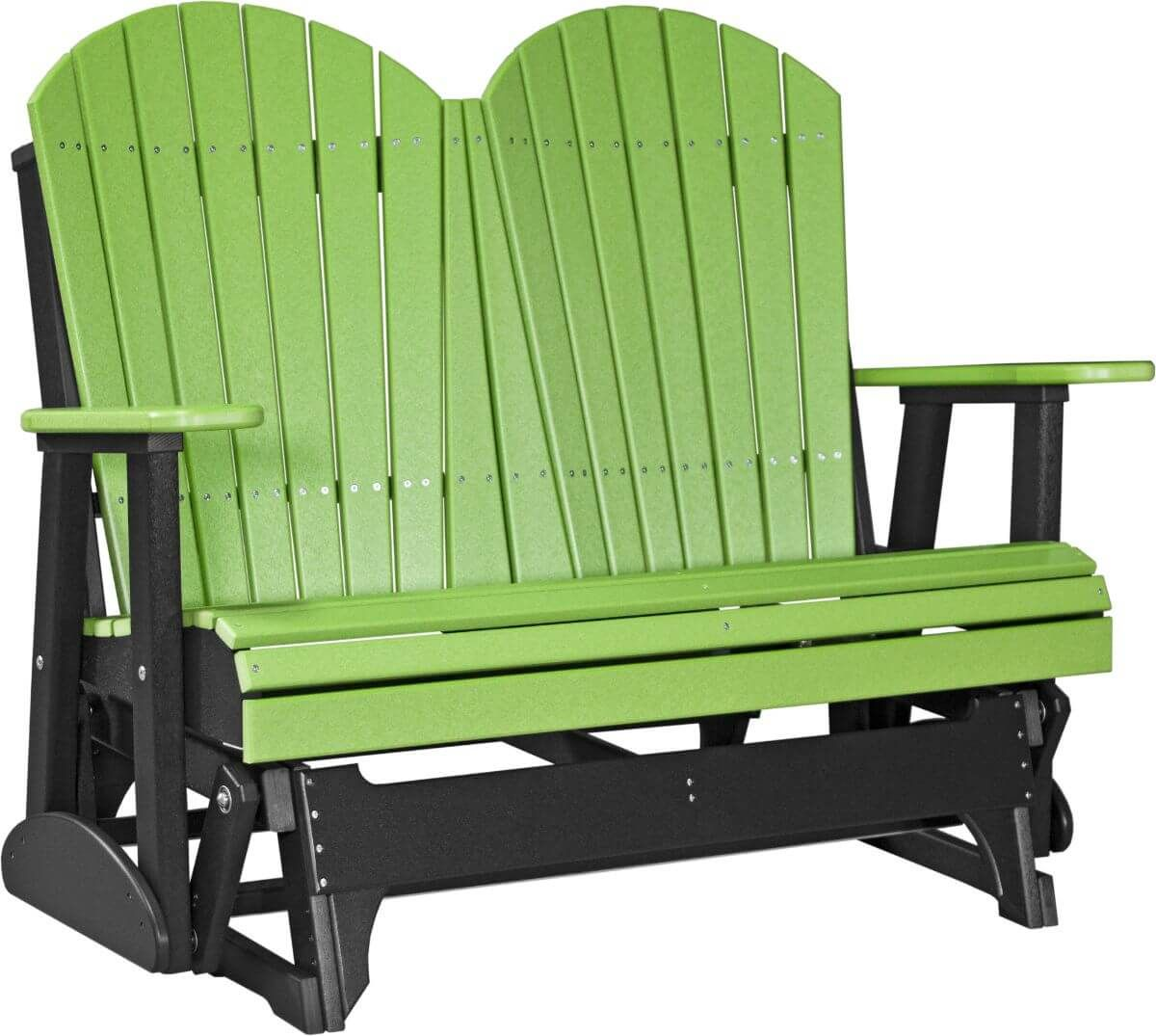 Lime Green and Black Tahiti Loveseat Patio Glider