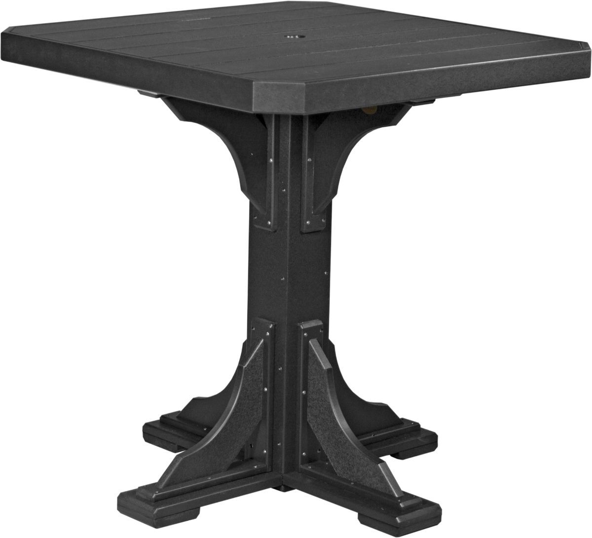 Black Tahiti Outdoor Bar Table