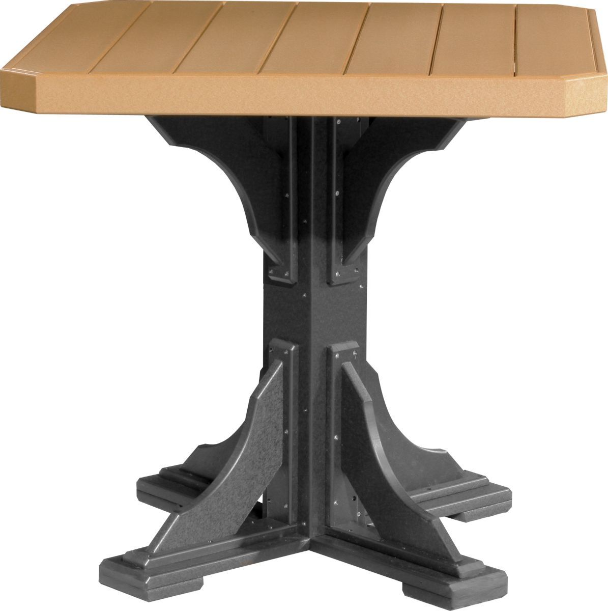 Cedar and Black Tahiti Outdoor Bar Table