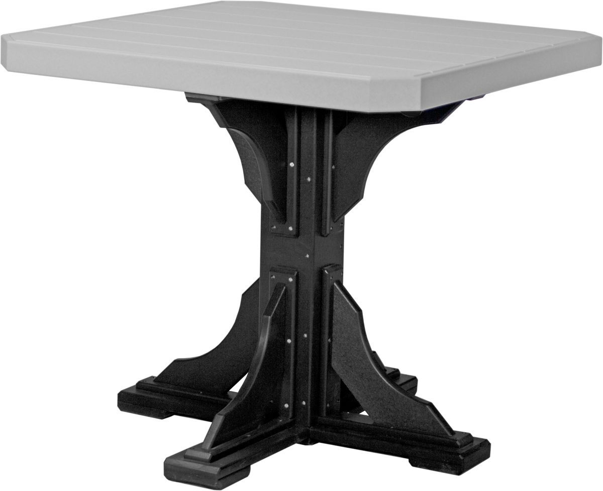 Dove Gray and Black Tahiti Outdoor Bar Table