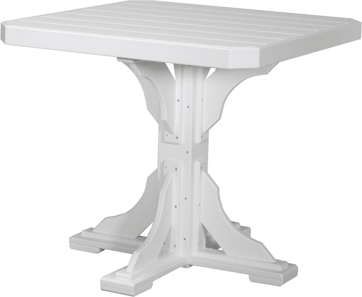 White Tahiti Outdoor Bar Table